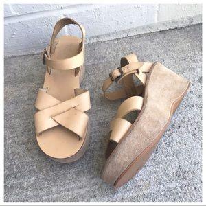 Kork-Ease Tan Ava Platform Criss Cross Sandals